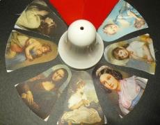 Weihnachtsglocke Samt/Bild-Bastel-Set 7 Motive Samt rot