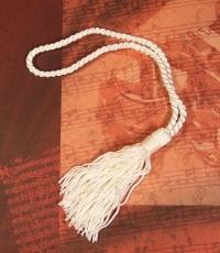 Trodel / Quaste für Weihnachtsglocke weiß