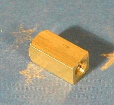 Messing-Quader für Achsverlängerung