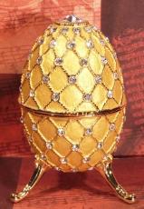 W&P Schmuck-Ei gold mit Steinen