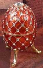 W&P Schmuck-Ei rot mit Steinen