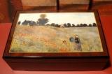 BÖHME Spieluhr Holzschatulle X 893100 - Monet / Mohnfeld bei Argenteuil