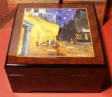 BÖHME Spieluhr Holzschatulle KL 893223 - Nachtcafé / Vincent van Gogh