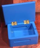 Holzgehäuse blau für 15-Ton Lochstreifenlaufwerk