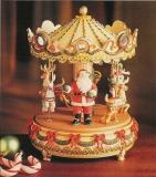 ENESCO Spieluhr 581399 Weihnachts-Karussell