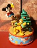ENESCO Weihnachts-Spieluhr 585343 - Mickey/Tannenbaum