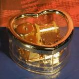 Briefbeschwerer Acryl-Herz Spieluhr