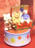ENESCO Spieluhr Trunk O`Teddies