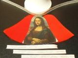 Weihnachts-Glocke Samt/Bild-Klebe-Set Mona Lisa / Samt rot