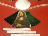 Weihnachts-Glocke Samt/Bild-Bastel-Set Mona Lisa / Samt grün