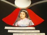 Weihnachts-Glocke Samt/Bild-Bastel-Set Mädchen / Samt rot