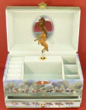 Trousselier Spieluhr XL mit Schublade S60620 - Brown Horses