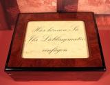 BÖHME Spieluhr Holzschatulle X 8900 - Wechselrahmen Tristesse / Chopin