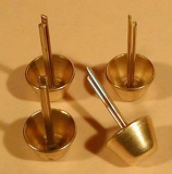 Messing-Stift-Füße für Holzschatullen 8 mm / Set = 4 Stück