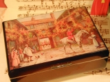 DEICHERT Spieluhr Holzschatulle mit Bild 205.010 - Nostalgie 2