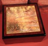 BÖHME Spieluhr Holzschatulle KL 89205 - Die japanische Brücke / Monet
