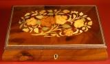 GIGLIO Spieluhr 148618 - Holzschatulle Blumen-Intarsien BR