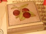 DEICHERT Spieluhr 49 RO 3N - Holzschatulle mit Intarsien 3N altrosa