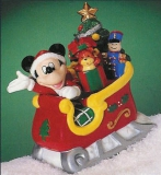 ENESCO Disney-Spieluhr Porzellan Mickey In Sled Of Toys